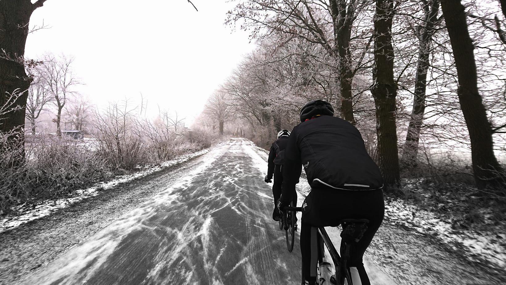 Rennrad im Winter