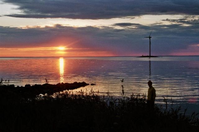 Sonneuntergang am Lumijoen Varjakka